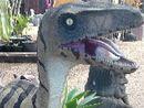 Someone has taken the phrase 'walk the dinosaur' too far.