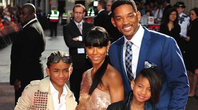 The Smith family (L-R) Jaden, Jada, Will, Willow
