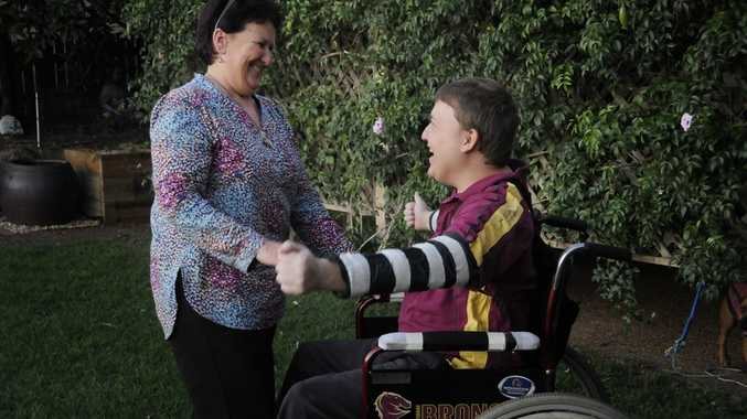Toowoomba mum Coralie Graham will fly to Los Angeles with her son Joel Shepherd so he can undergo reverse stroke treatment.