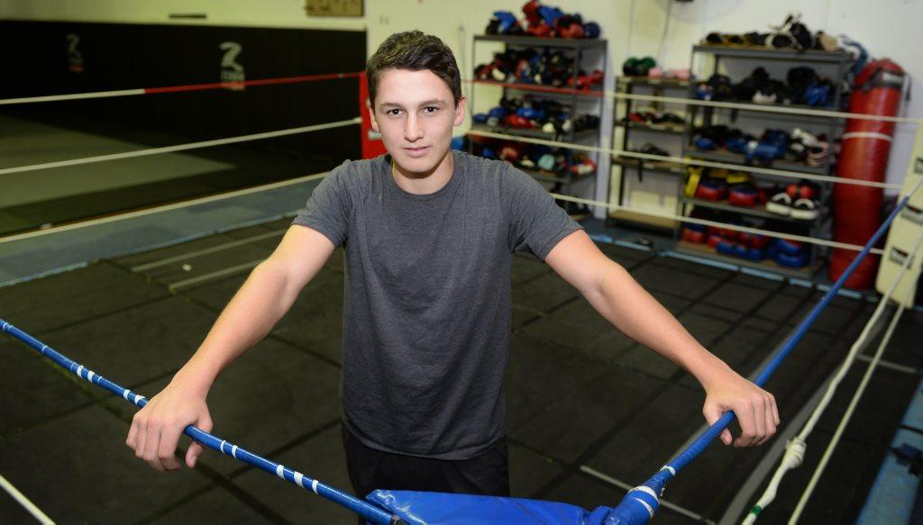 Boxer Ben Mulvihill at the CQ MMA gym. Photo: Chris Ison / The Morning Bulletin