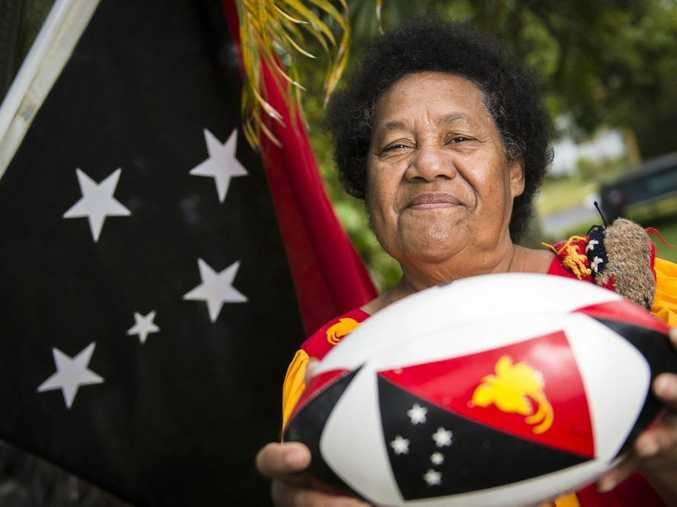 Marcella Kramer never thought she would see a team from her native Papua New Guinea play in Gladstone. Photo Luka Kauzlaric / The Observer
