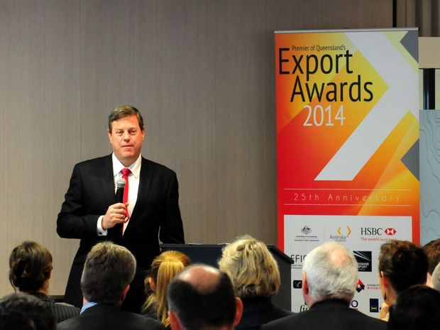 Tim Nicholls at the Premier's Export Awards.