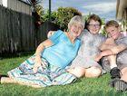REWARDING: Nonnie Fay Millar, Robert and Isolde McFarlane relax in the backyard.
