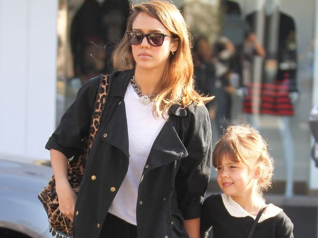 Jessica Alba with daughter Honor