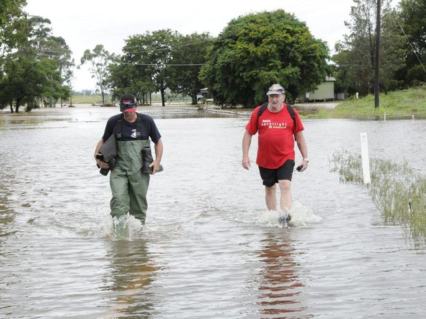 Grantham resident Marty Warburton (left) has raised concerns of a possible cancer cluster following the floods which ripped through the town in 2011.