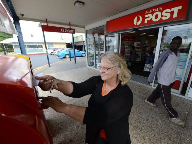 Goodna resident Sadie Cowan at the Goodna Post Office at St Ives.