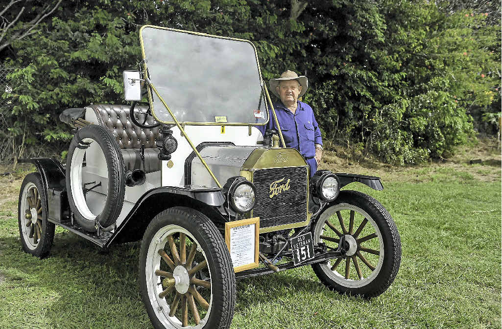 Gordon Whittaker with his 1914 Ford Model T.