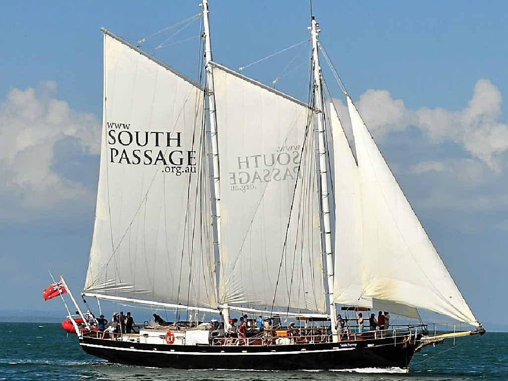 SOUTH PASSAGE: The 100-foot gaff-rigged training schooner is coming to Keppel Bay Marina, offering the trip of a lifetime to the Capricorn Coast community.