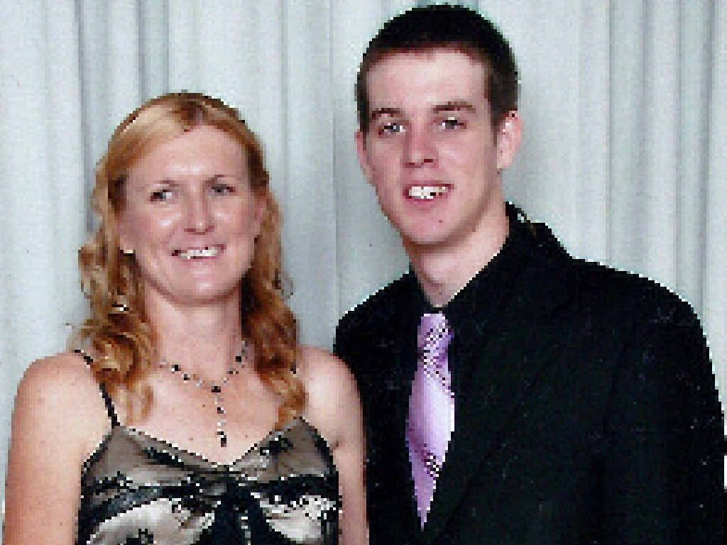 SORELY MISSED: Sue Shepherd with her son Luke.