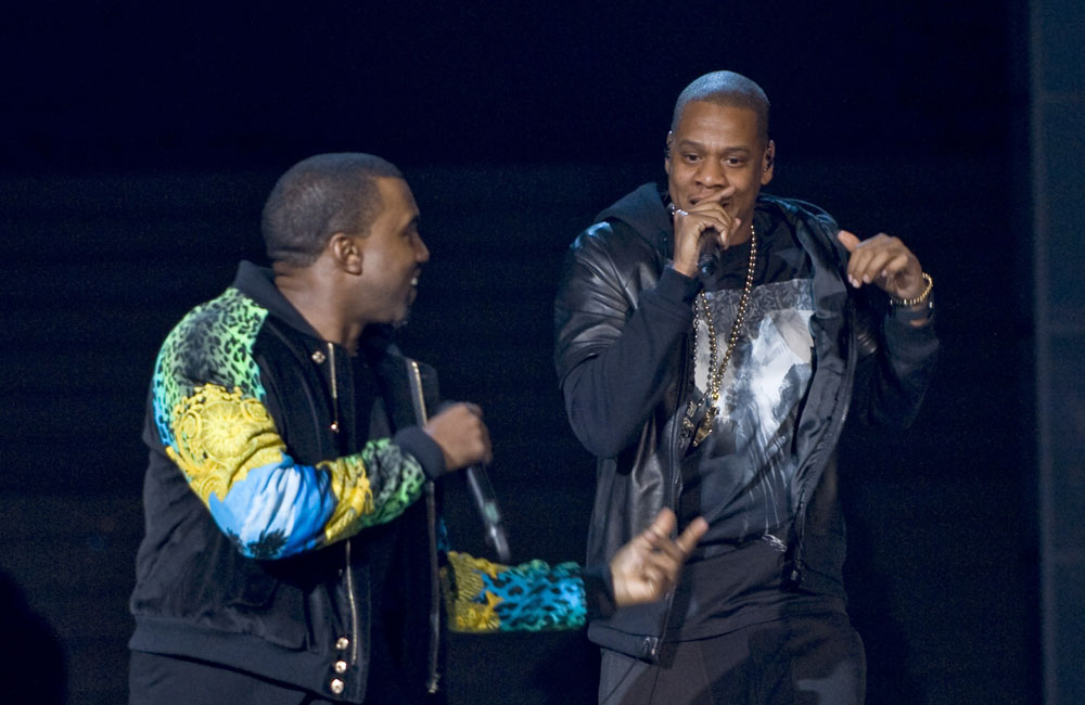 Kanye West (L) and Jay Z