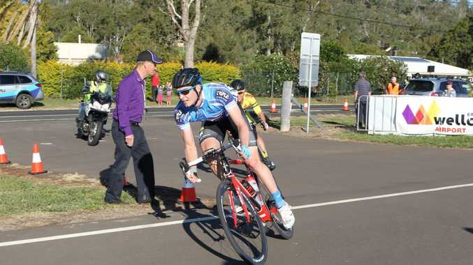 OLIVER Kent-Spark on his way to victory in today's stage four of the Tour of Toowoomba.