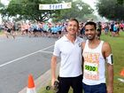 Grant Whitfield and Adrian Joita ahead of the 5k event of the Rocky River Run. Photo Sharyn O'Neill / The Morning Bulletin