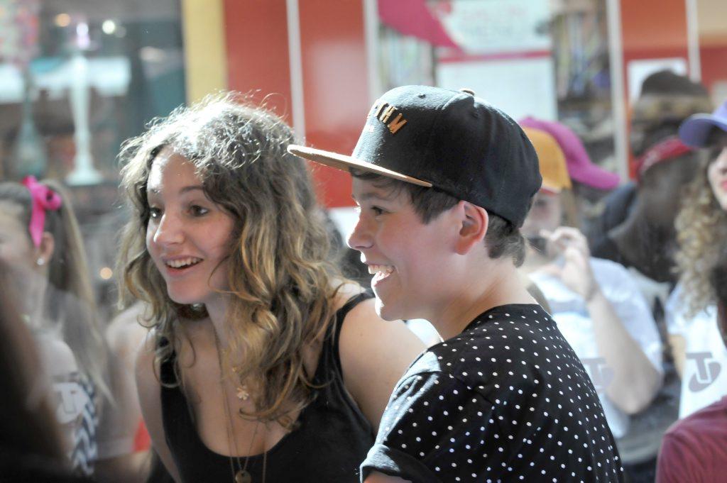X Factor star Jai Waetford at Grand Central Shopping Centre.
