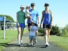 Carmel, Audra (2), Glen, Jordie and Michelle Que at the Mater Little Miracles 5km run and walk at the Gladstone Marina. Photo Kerry Thomas / The Observer