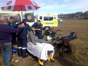 Man suffers head injuries after quad bike accident