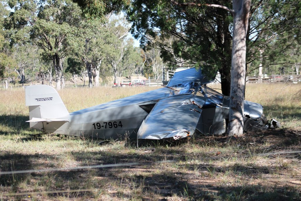 TWO men have been injured in a light plane crash at Leyburn, south of Toowoomba. The plane crashed about 1pm on Bonnie Doon Rd. Queensland Fire and Rescue Service crews from Clifton are at the scene of the incident investigating. A 63-year-old man and 70-year-old man have been taken to Toowoomba Hospital by ambulance with injuries to their backs Photo Warwick Daily News