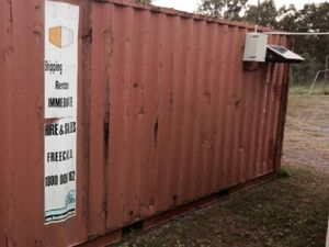 Council moves its own non-compliant shipping containers