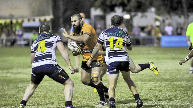 Josh Blatch in action as Brothers take on Wallabys.