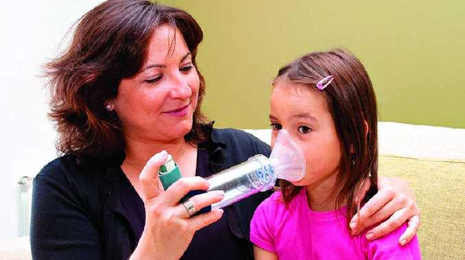 SUFFERERS STRUGGLE: Parents need to be good observers for indicators their child may have asthma.