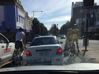 Cyclists in the Toowoomba CBD this morning 'ignoring the one metre rule', according to some online commentators.