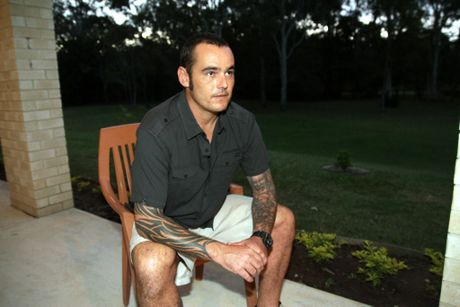 Afghanistan veteran Adam Marsh is thankful to the people at Remembrance House for saving his life. Photo Jorge Branco / Caboolture News