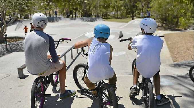 TOUGH LESSON: Gladstone skateboarders now agree that wearing a helmet is crucial.