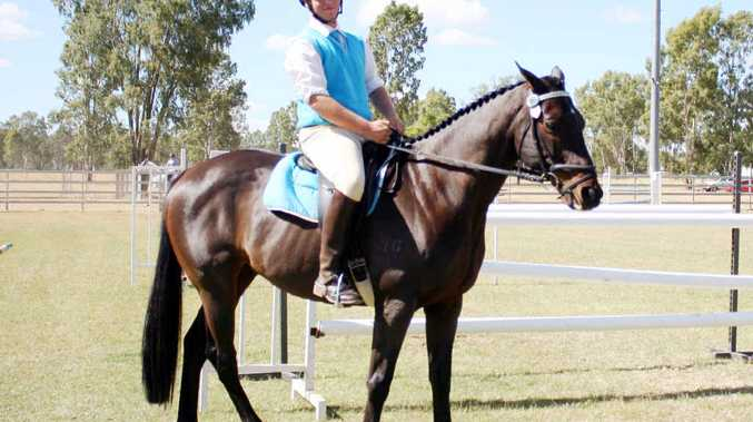CLASS ACT: Top showjumpers like Wayne Hawke turned out at the Alpha Show.