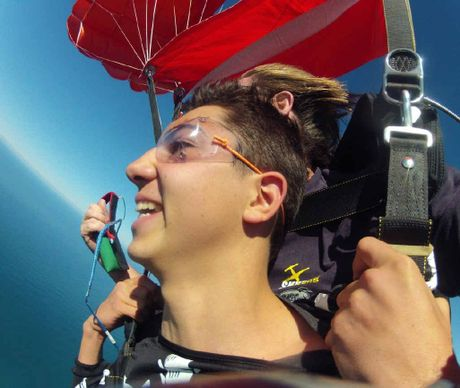 Jay has become the first person to have a parachute malfunction with Skydive Ramblers.