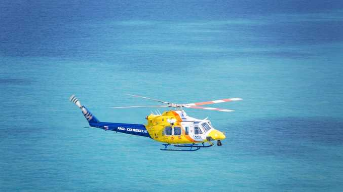 RACQ CQ Rescue helicopter.