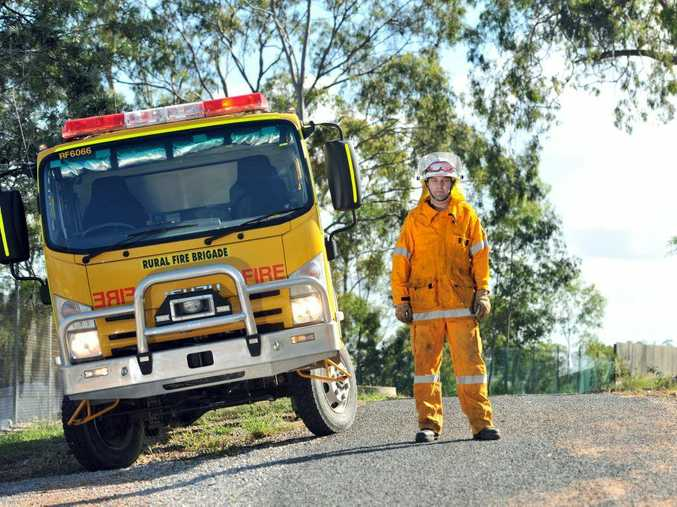 Simon Bensch from Tannum Sands Rural Fire Brigade is calling for more fire fighter volunteers.