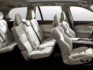 New Volvo XC90 being revealed from the inside out