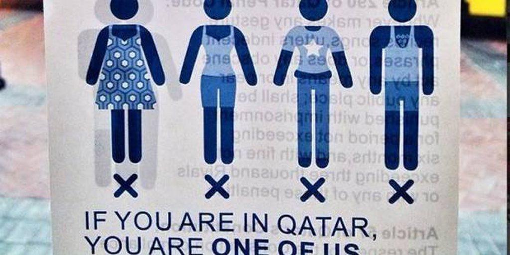 In Qatar leggings are pants.