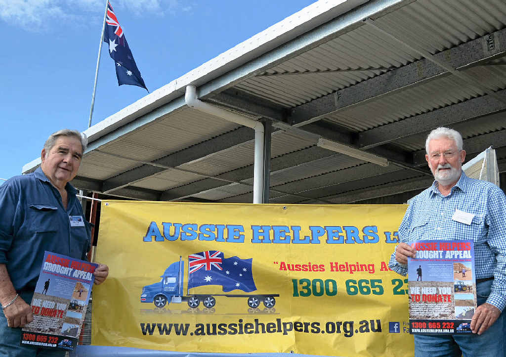 GIVING BACK: Warwick Men's Shed president Roy May and secretary Ian Stevens are looking forward to the Aussie Helpers Drought Appeal sausage sizzle.