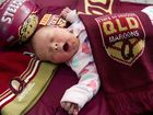 Newborn Madison is a Maroon to the core
