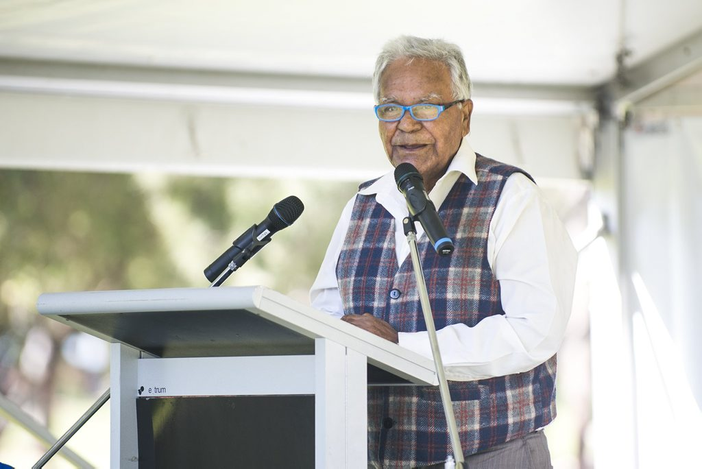Mr Darby McCarthy speaks at National Reconciliation Week. Photo Contributed