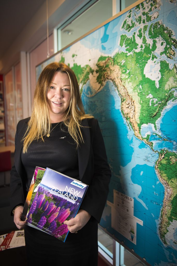 GIRL FRIDAY: Britt Jackson is the store manager of Flight Centre in Stockland Gladstone.