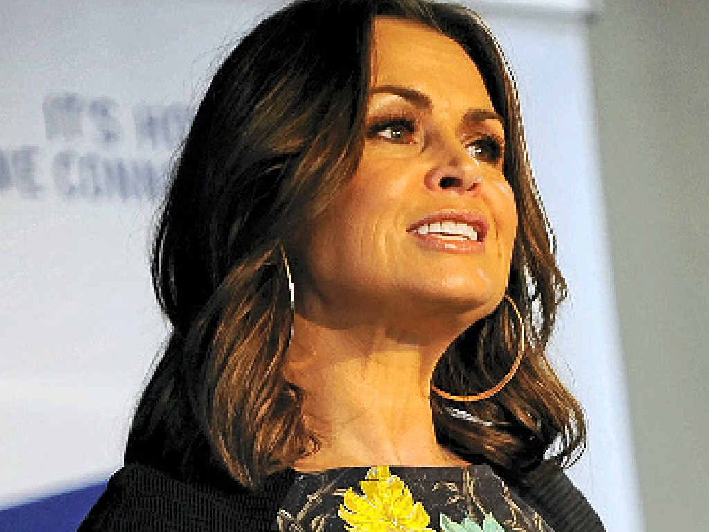 KNOW YOUR STRENGTHS: Lisa Wilkinson speaks at the Sunshine Coast Business Expo at Mountain Creek.