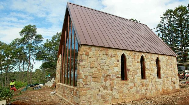 CHAPEL OF LOVE: The wedding chapel at Montville was completed brick by brick.