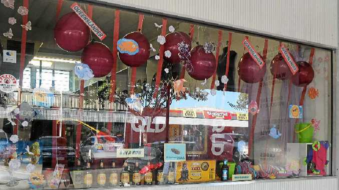 MAROON-MAD: The Queensland Week display at the Malamanda House of Fashion in Gatton.