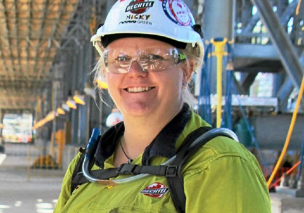 "Nikki Green is now working in the ""Jurassic Park"" of the resource construction sector."