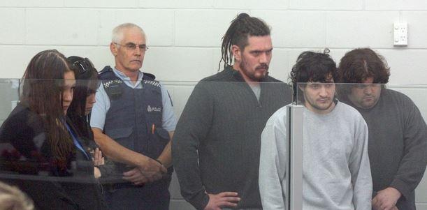 The group accused of murder and aggravated robbery of Glen Jones: Left to right - Toni Miller, Tariana Jones, Matthew McKinney, Kristofer Jones and Hayden Ranson.