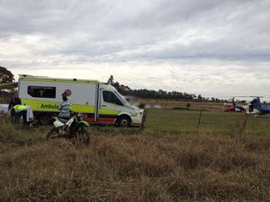 Teen injured after dirt bike crashes into barbed wire fence