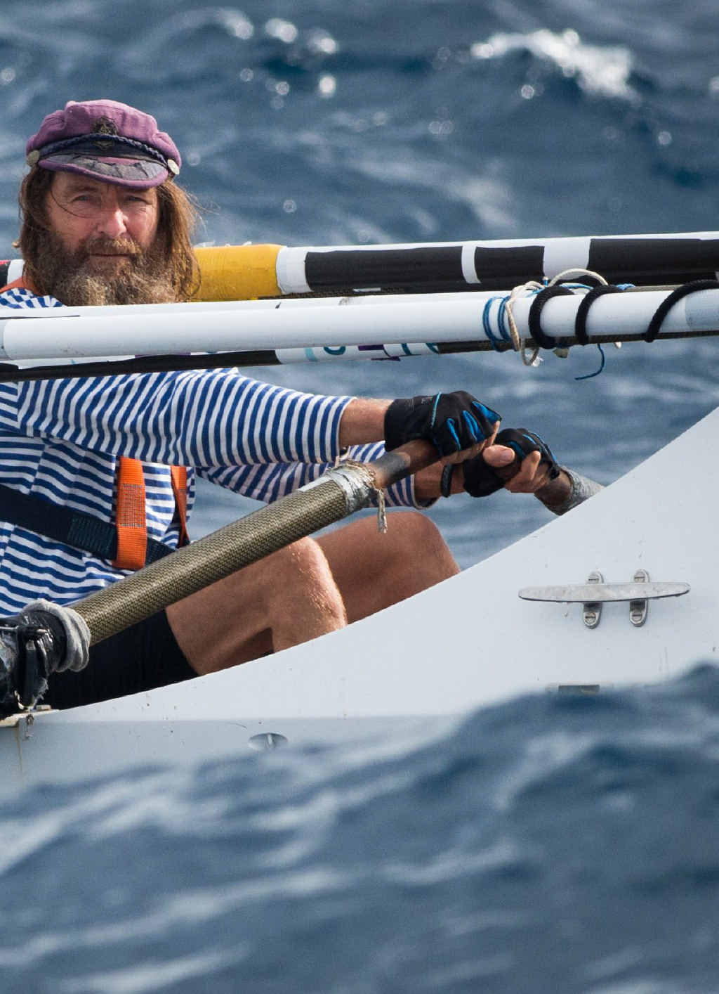 16,800km solo rowing voyage across the Pacific.