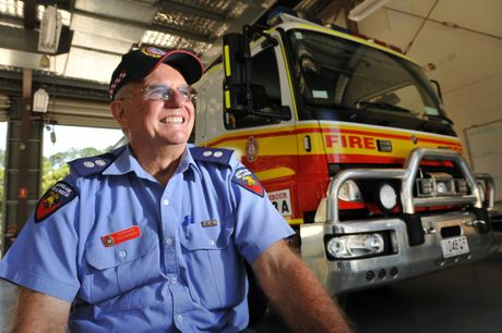 Namour Fire Station Officer Fred Heiniger is retiring next week after 40 years of service. Photo: Iain Curry / Sunshine Coast Daily