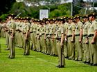 Army personnel on parade at Ipswich Grammar School at the granting of Freedom of Entry ceremony on Saturday, May 31. Photo: Claudia Baxter / The Queensland Times