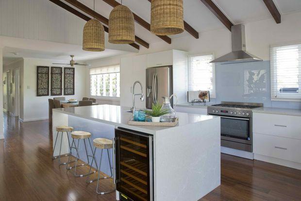 Maddi and Lloyd's picture-perfect new kitchen.