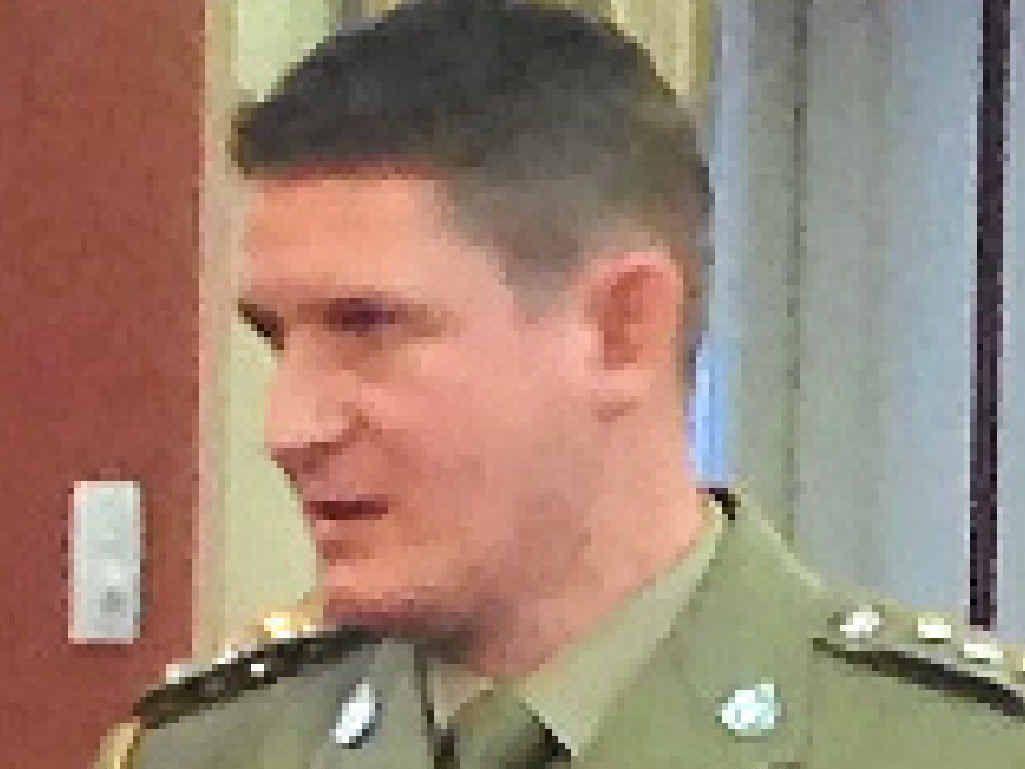 BRAVE MAN: Captain Brandon Coghill.