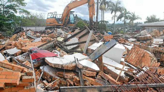 FLATTENED: The old Nambour Fire Station has been demolished. In the short term, the site will serve as a parking area.