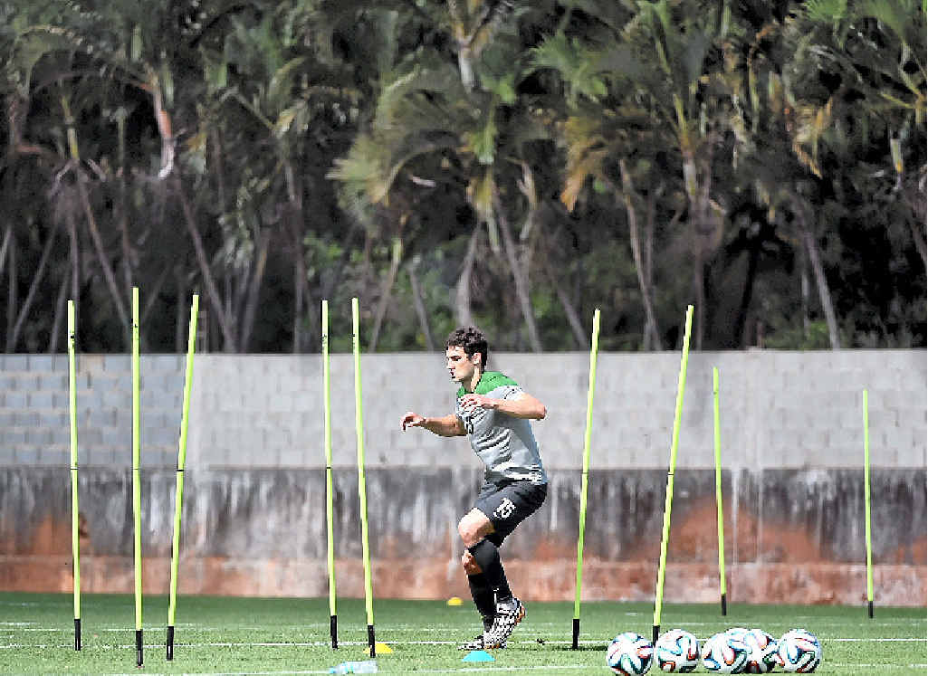 FITNESS WORK: Socceroos captain Mile Jedinak is on light training program during his side's training sessions in Vitoria, Brazil.
