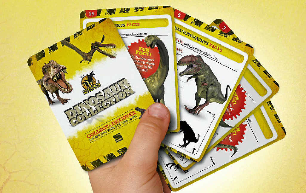 COLLECT THEM ALL: Get your dinosaur card token in each day's Observer.